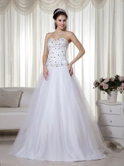 Best A-line White Sophisticated Lady Evening Dress