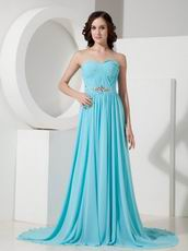 2013 Top Designer Aqua Blue Chiffon Prom Dress In Washington