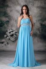 2013 Strapless Aqua Blue Prom Dress By Top Designer