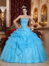 Aqua Blue Allure Quinceanera Dress To Adult Ceremony Wear