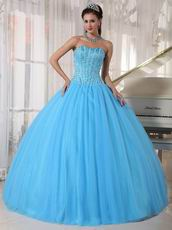 Beaded Young Women Prefer Quinceanera Dress In Light Sky Blue
