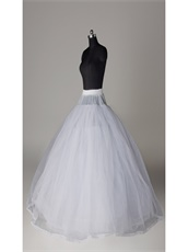 ELASTIC Waist 8 Layers Tulle Hoopless Crinoline Underskirt Make Dress Puffy