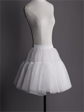 Adjustable Waist Layers Tulle Hoopless Crinoline Slips Underskirt Short