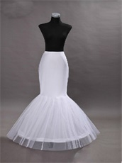 Marmaid Floor Lengt Crinoline Underskirt Make Dress Puffy