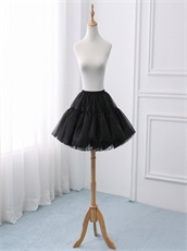 Black Short Slips Crinoline Underskirt Lolita Cos For Puffy