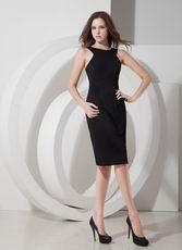 Scoop Knee-length Black Homecoming Dress Under $100