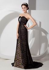Empire Waist Printed Top Designer Evening Dress For Sale