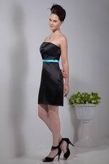 Black Strapless Short Homecoming Dress Under 100 Dollars