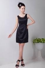 Simple Jewel Neck Black Women In Homecoming Dress