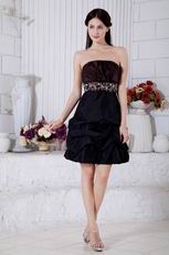 Beautiful Girl Choice Strapless Black Graduation Dress