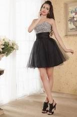 Best Quality Sweetheart Neck Black Cocktail Dress