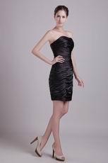 Ruched Black Graduation Dress For Girl Under 100 Dollars