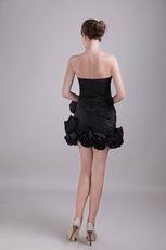 Black Sweetheart Mini-length Cocktail Dress For Cute Girl