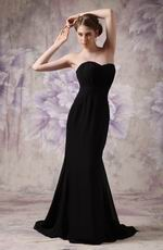 Discount Sweetheart Black Chiffon Club Party Dress Petite