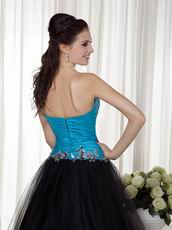Prom Evening Party Dress Design With Black and Blue