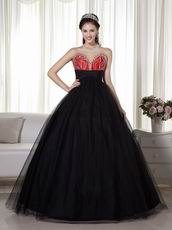 Black Tulle Floor Length Dress For Evening Celebrity