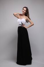 Top Designers For Black and White Evening Prom Dress