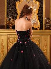 Strapless Black Popular Prom Ball Gown For Sale On Internet