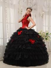 Detachable Halter Straps Quinceanera Dress With Handmade Flower