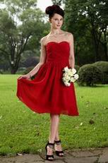 Custom Vintage Wine Red Bridesmaid Wedding Wear