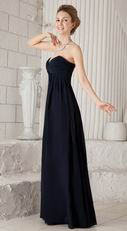 Black Sweetheart Style Floor Length Bridesmaid Dress