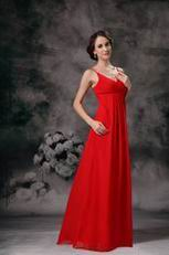 Red Bridesmaid Dress Wear to Church Wedding Ceremony