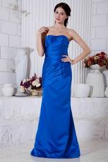 Classic Sweetheart Blue Stain A-line Prom Dress Petite