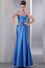 Blue Stain Formal Sweetheart Trumpet Prom Dress Petite