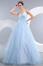 Baby Blue Evening Dresses Design With One Shoulder Neck