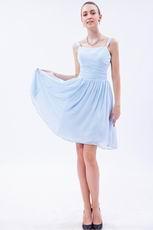 Square Baby Blue Short Bridesmaid Dress Under 100 Dollars