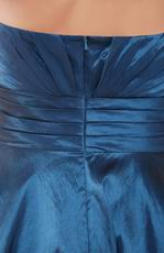 Strapless Short Navy Blue Taffeta Homecoming Dress