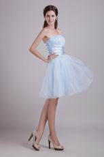 Baby Blue Short Organza Sweet Sixteen Dress Cheap Price
