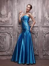 Dark Blue Sweetheart Floor-length Evening Dresses UK