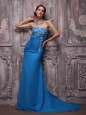 Azure Blue Amazing Club Party Evening Dresses