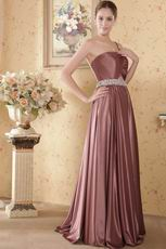 Not Expensive One Shoulder Brown Dress Ready To Prom Party Wear