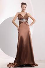 Modest Crystals Beaded Panel Train Sienna Evening Dress