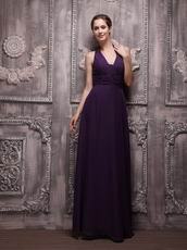 V Neckline Halter Indigo Chiffon Make Your Own Evening Dresses