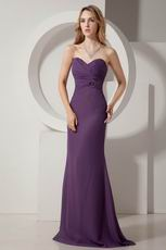 Sweetheart Ruched Dark Purple Cheap Prom Party Dress Online