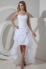 Stylish High Low Asymmetrica Beach Wedding Dresses 2014