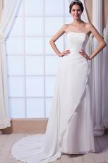 Simple Sweetheart Wedding Dress For Beach Wedding Ceremoney