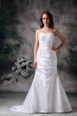 Strapless Column Beach Wedding Dress Top Designer List