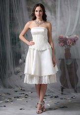 Strapless Casual Romantic Beach Wedding Dress Short Romantic