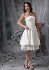 Strapless Casual Romantic Beach Wedding Dress Short
