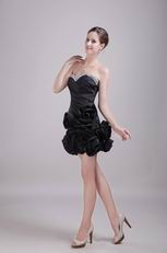 Black Sweetheart Mini-length Cocktail Dress For Cute Girl