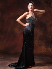 Black Sweetheart Mermaid Annual General Meeting Prom Dress Western