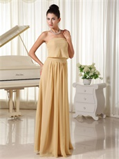 Champagne Chiffon Fall Prom Dress Zipper-up Back Designer For Girlish