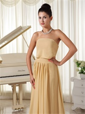 Champagne Chiffon Fall Prom Dress Zipper-up Back Designer For Girlish