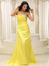 Gorgeous Cole Flowers Simulation Silk Custom Made Gathering Prom Dress