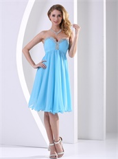 Aqua Blue Chiffon Attractive Homecoming Dress Celebrity Masque