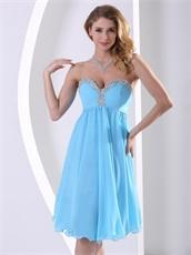Aqua Blue Chiffon Attractive Homecoming Dress Celebrity Masque